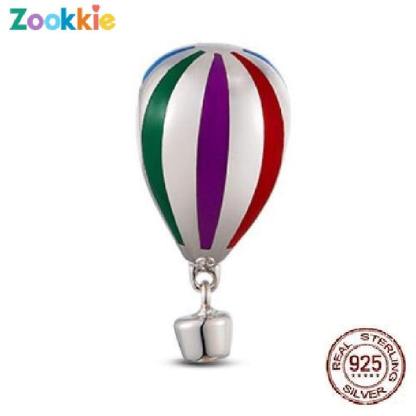 925 sterling silver hot air balloon charm