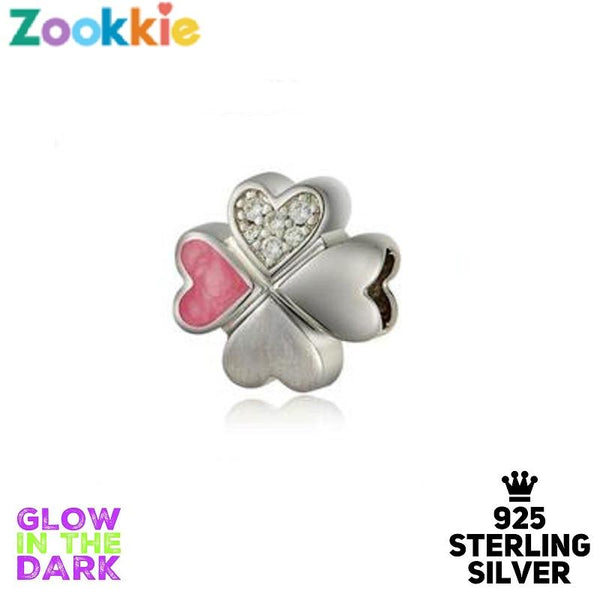 925 sterling silver four leaf clover charm