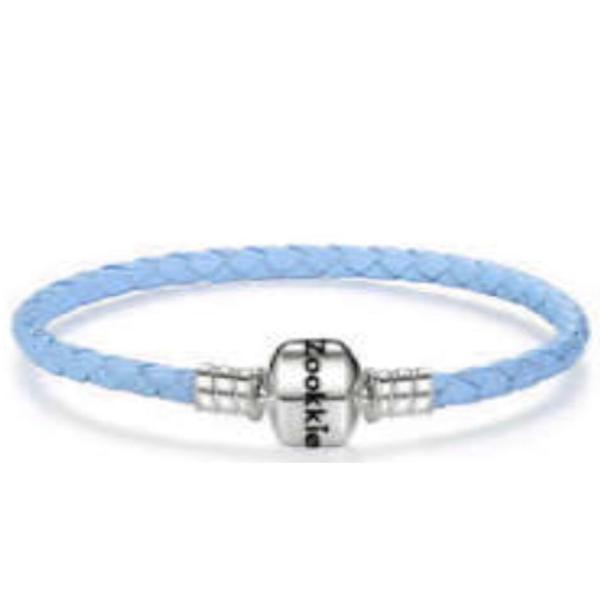 Light Blue Leather Bracelet bracelet - Zookkie Pty Ltd