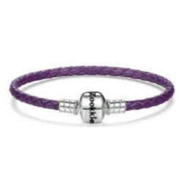Purple Leather Bracelet bracelet - Zookkie Pty Ltd