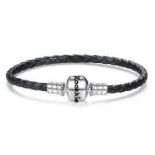 Black Leather Bracelet bracelet - Zookkie Pty Ltd