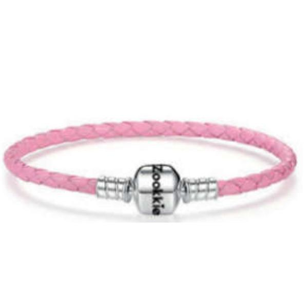 Pink Leather Bracelet bracelet - Zookkie Pty Ltd