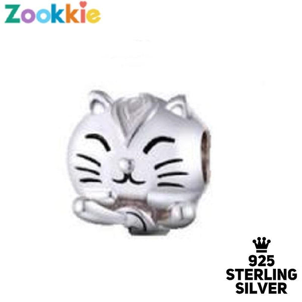 925 sterling silver cat charm