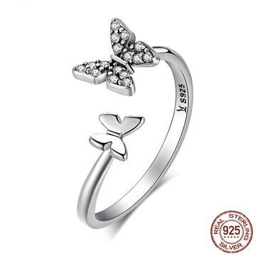 Butterfly Open Ring Rings - Zookkie Pty Ltd
