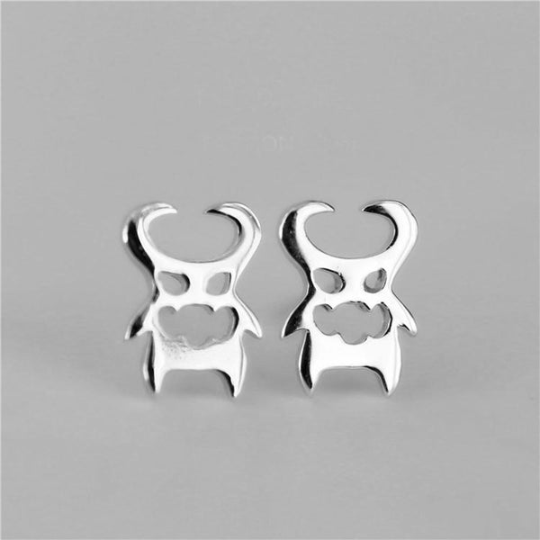 925 sterling little devil stud earring