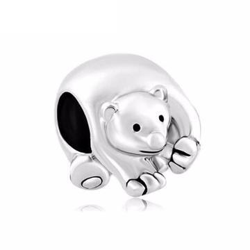 Polar Bear Cub charm - Zookkie Pty Ltd