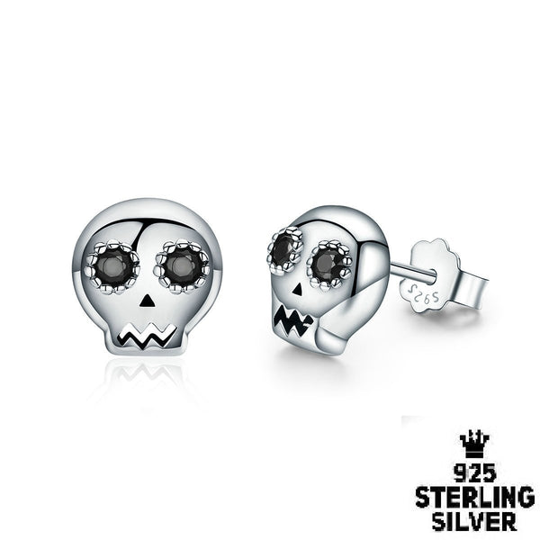 Skull Stud Earrings Earring - Zookkie Pty Ltd