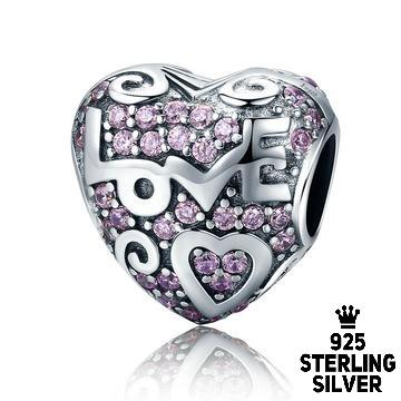 925 sterling silver romantic heart