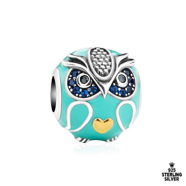 Tummy Heart Owl charm - Zookkie Pty Ltd