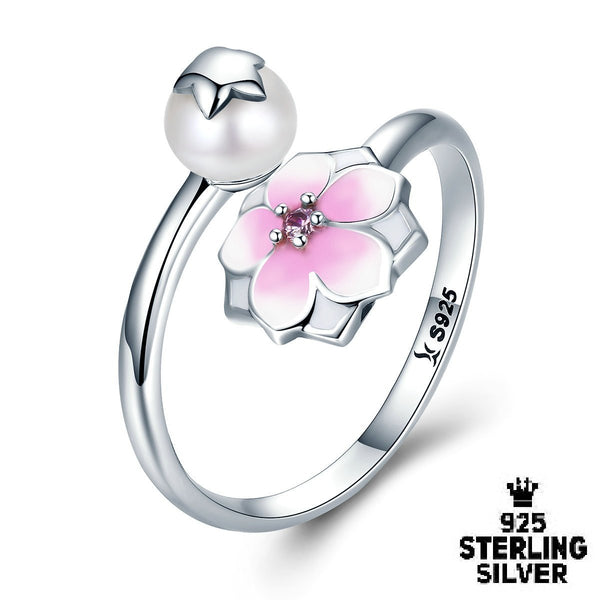 925 sterling silver magnolia ring