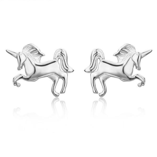 Simple Unicorn Stud Earrings