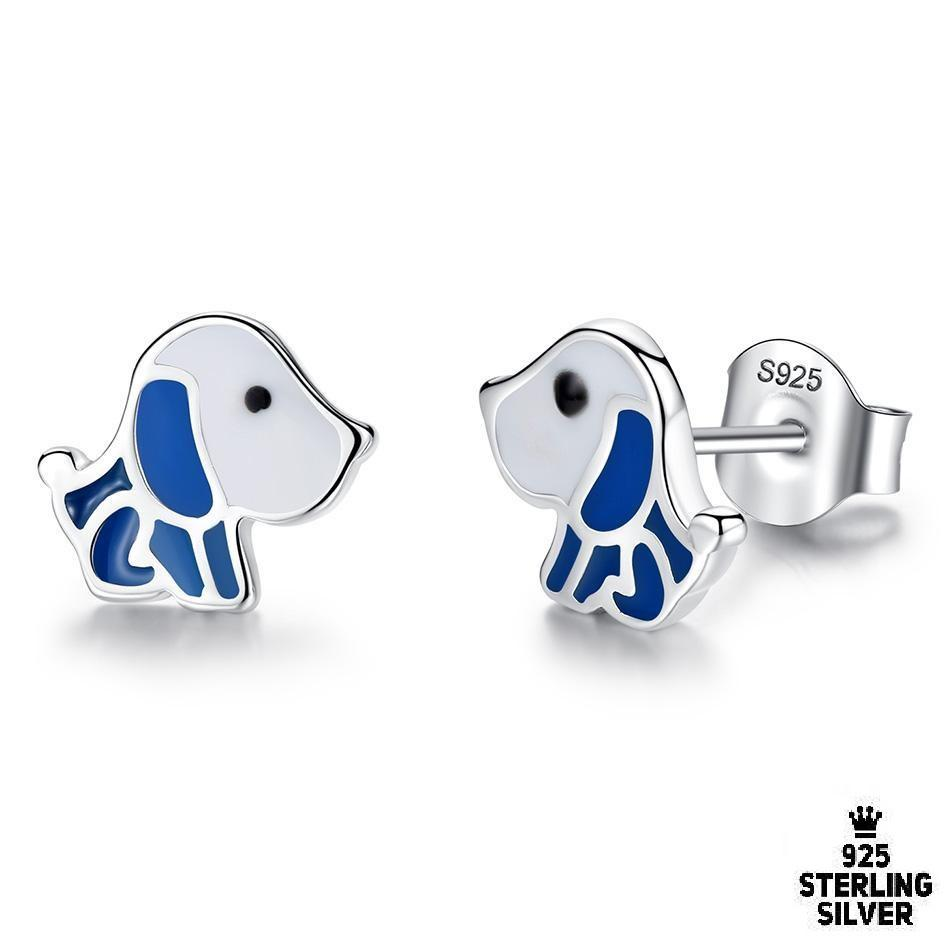 Cute Puppy Dog Stud Earrings