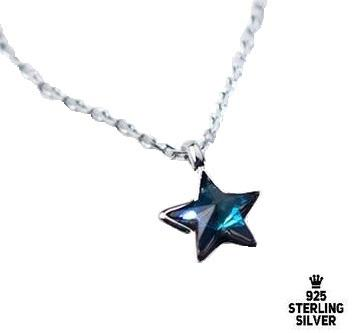 Sweet Blue Star Necklace