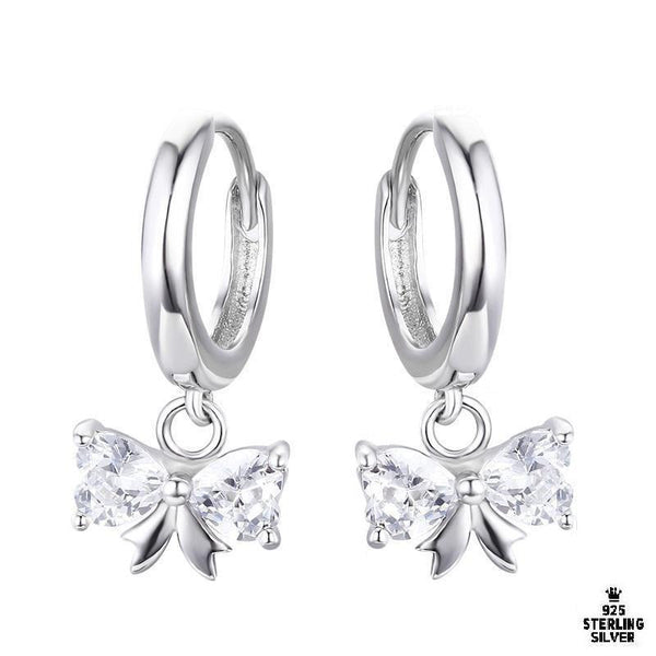 Ballerina Bow Hoop Earrings