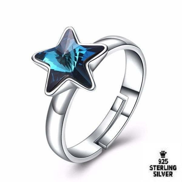 Blue Star Adjustable Ring