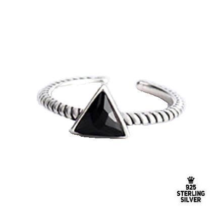 Black Triangle Retro Rings