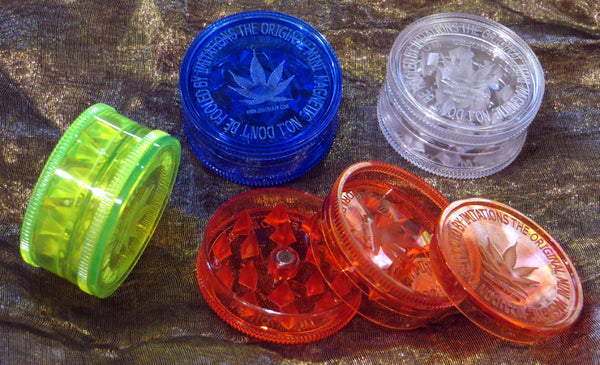 3-Piece Acrylic Grinder - 60mm - Fancy Puffs Smoke Shop
