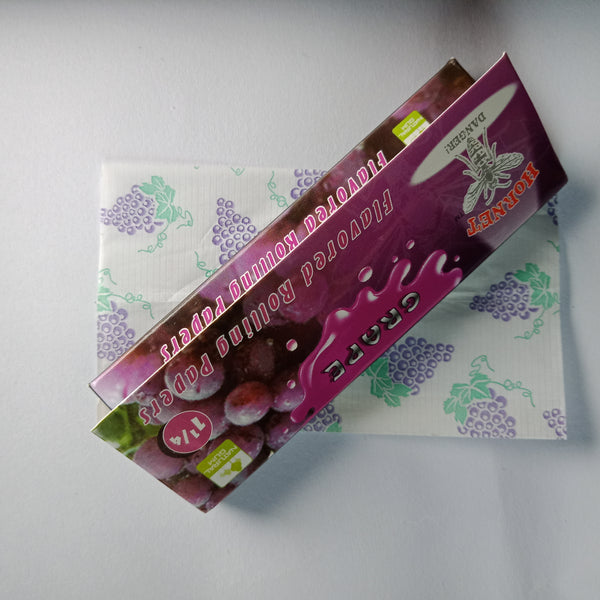 Hornet Grape Flavored Rolling Papers 11/4 - Fancy Puffs Smoke Shop