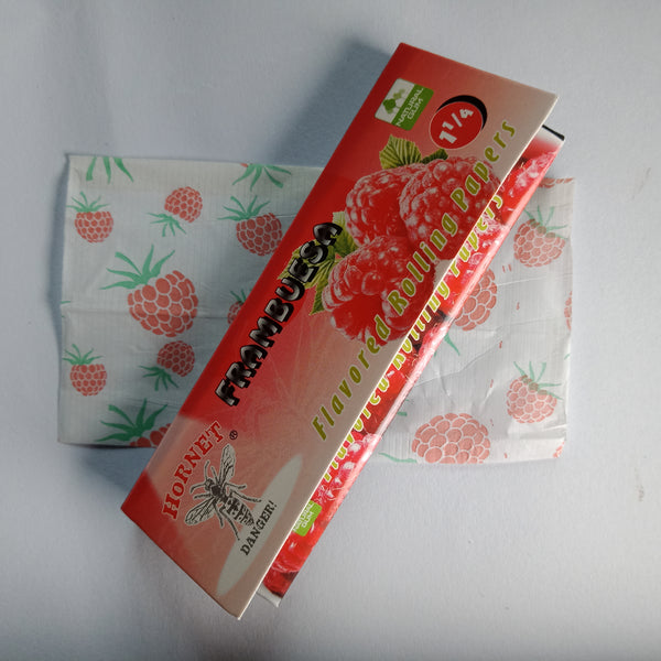Hornet Frambuesa Flavored Rolling Papers 11/4 - Fancy Puffs Smoke Shop