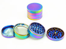 4-Piece Rainbow Dazzle Grinder - 40mm Small - Fancy Puffs Smoke Shop