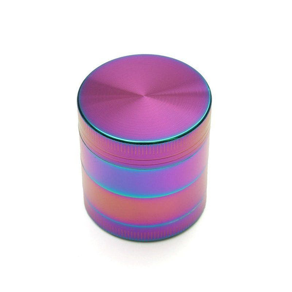 4-Piece Rainbow Dazzle Grinder - 50mm Medium - Fancy Puffs Smoke Shop