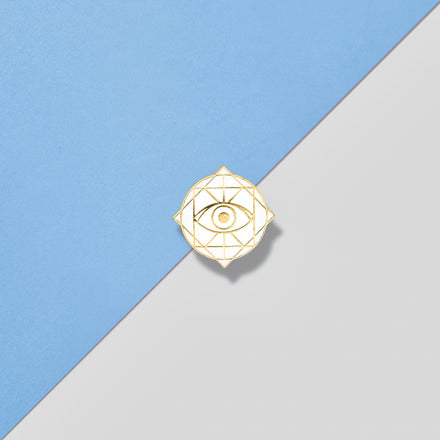 Rama Publishing | White Rama Eye Pin