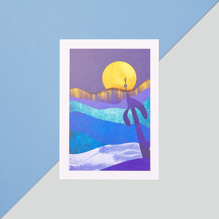 Rama Publishing | Full Moon Waves Print