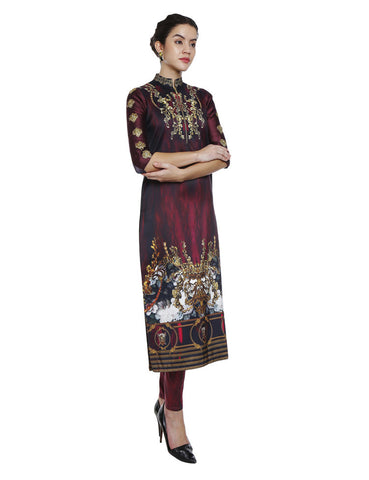 Niharika Multicolored Mandarin Collar Kurta