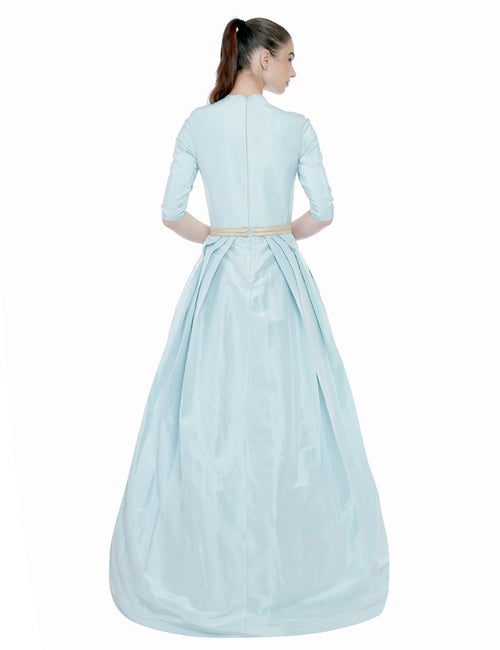Kaira Powder Blue Taffeta Gown