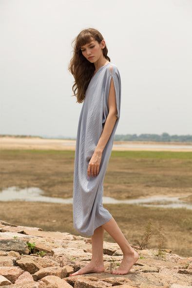 Free And Easy Irregular Dress In Blue