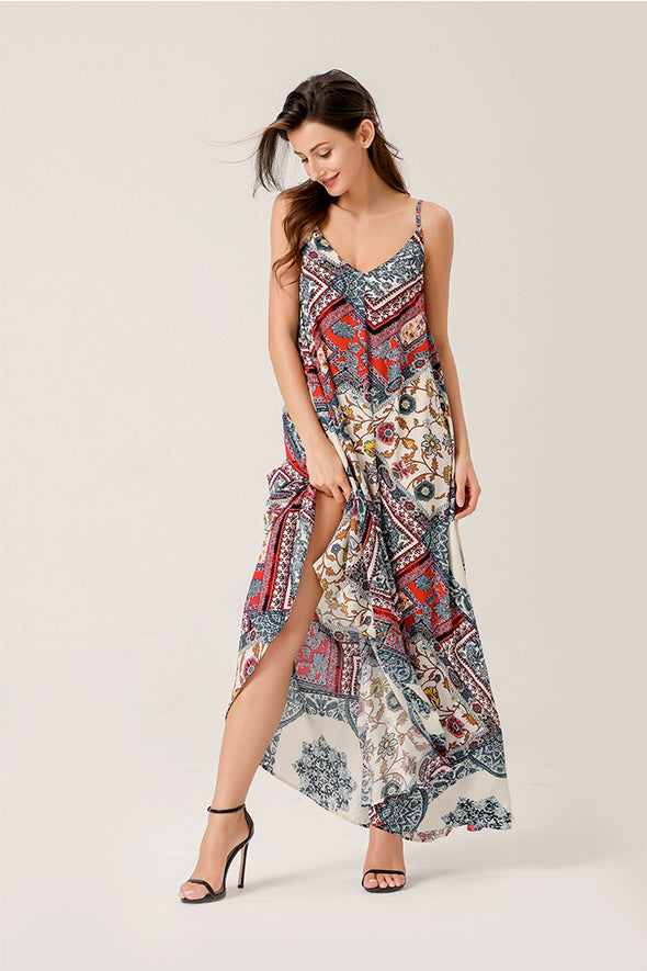 This Is Love Maxi Floral Print Dress With Pockets