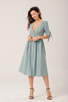 Air Of Romance Button-front Midi Dress In Aqua