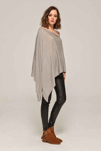 Solid Sweater Fall Into Love Gray Cape