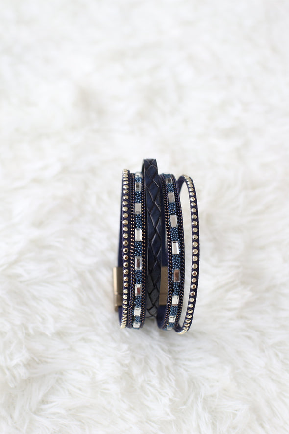 Blue Bracelet With  Magnetic Clasp