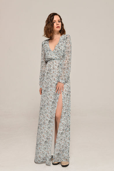 Preorder-Sweet Floral Long Sleeve Maxi Dress