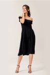 Come Back To Me Midi Dress With Pockets In Black
