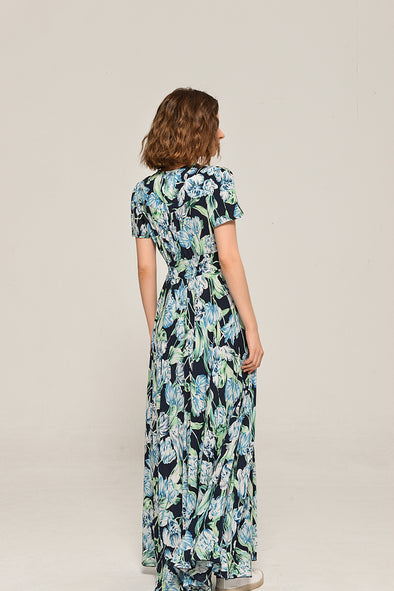 Floral Print Summer Rhapsody Maxi Dress