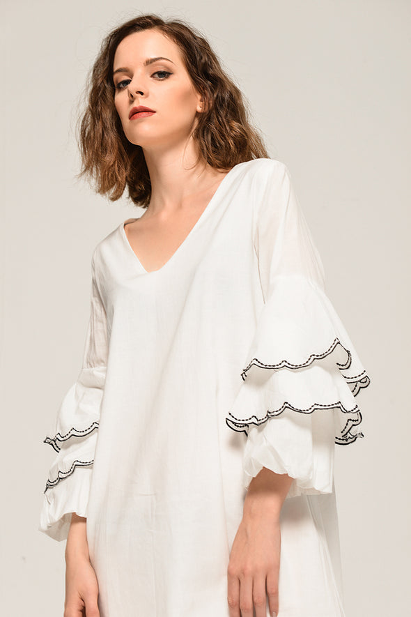 November Cotton Casual  Detailed Dress