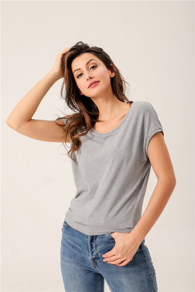 Pick Me Up Top In Light Gray