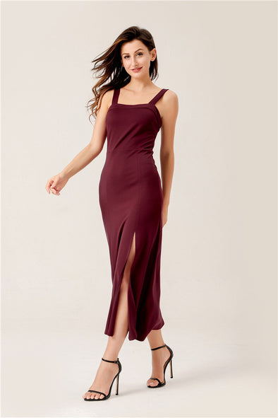 Date Night Maxi Dress In Burgundy