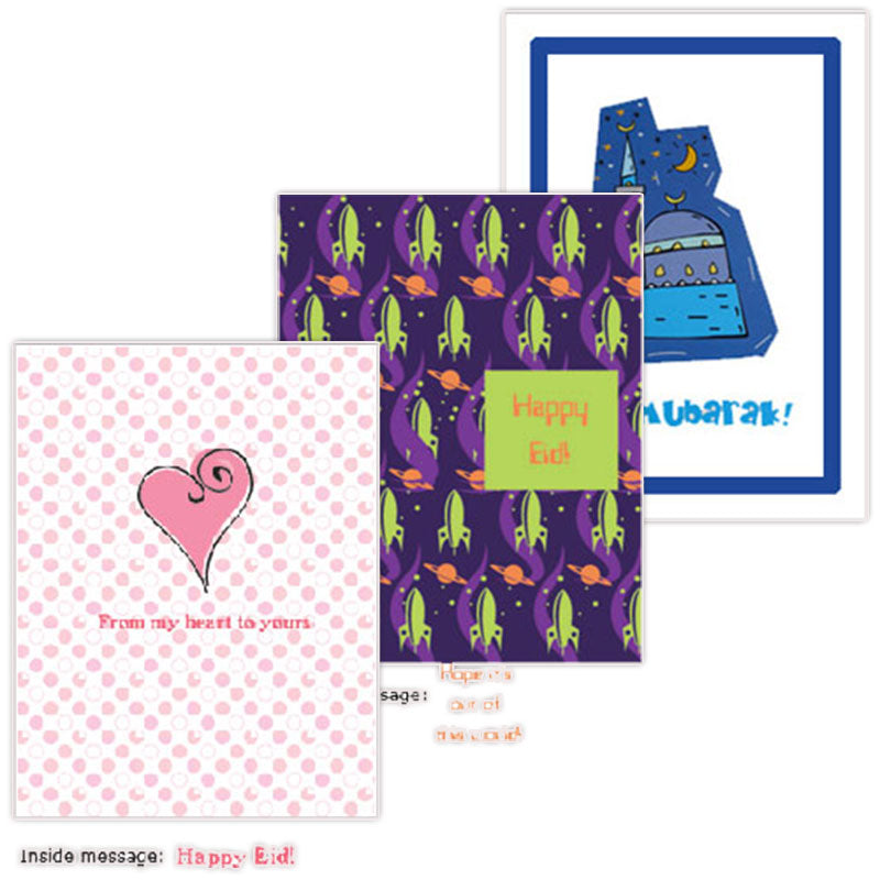 Kid's Eid Card Set