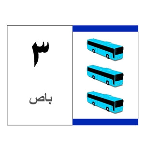 Flashcards FLCD4 Arabic Numbers, 1-15