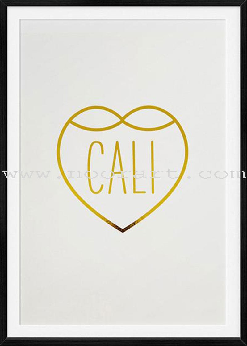 Decorative Art print- Cali Love