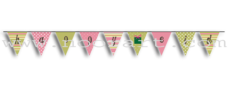"Bunting ""Happy Eid Banner"" - Shabby ""Zee"" Chic"