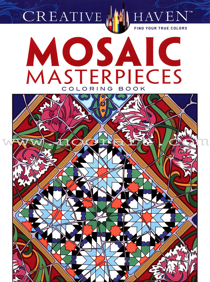 Creative Haven Mosaic Masterpieces Coloring Book