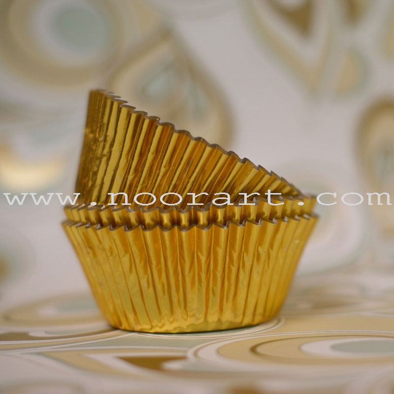 Cupcake Liners-Gold Arabesque