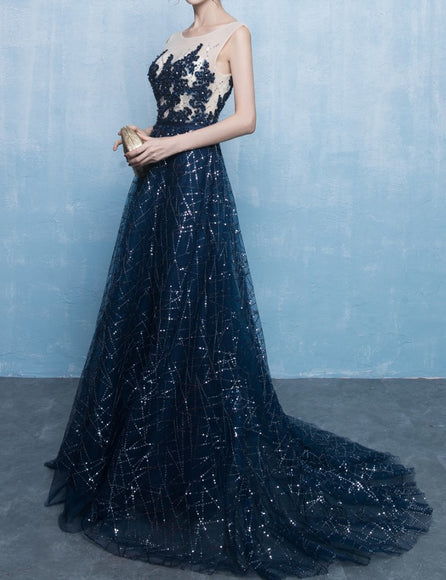 <Qian XI>Camille Sequin Gown (XS-L) - Gowns.sg
