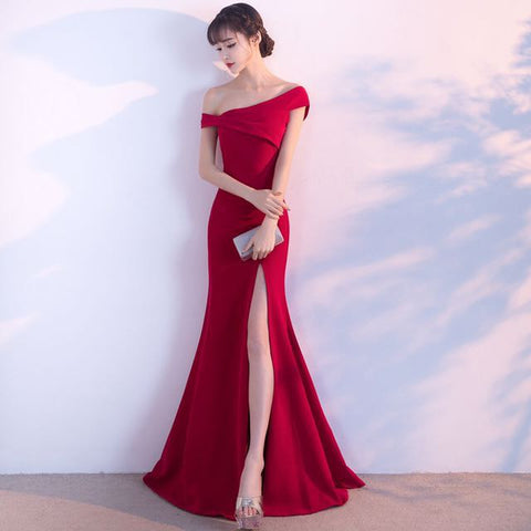 Feisty Red Evening Gown - Gowns.sg