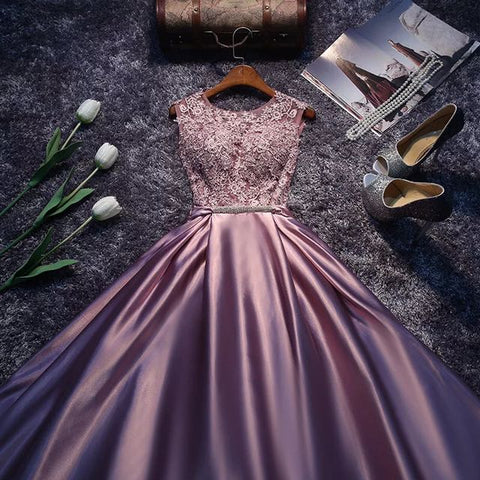 Purple Flare Evening Gown