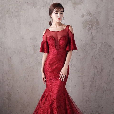 Ruby Delight Evening Gown